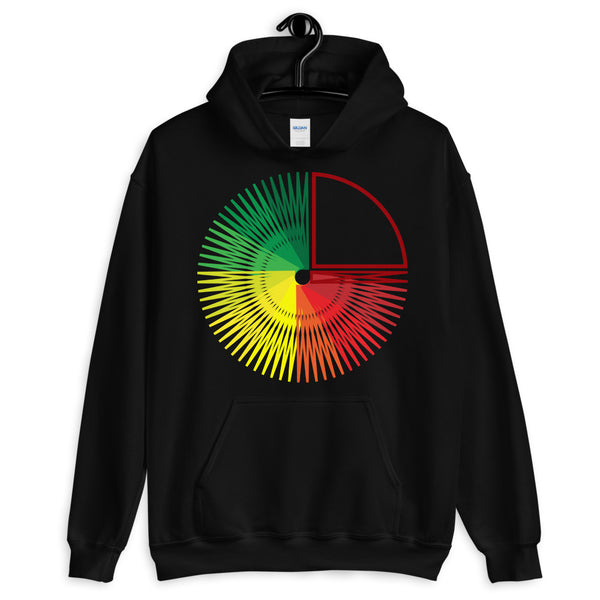 Green to Yellow to Red Star Unisex Hoodie Abyssinian Kiosk Fashion Cotton Apparel Clothing Gildan Original Art