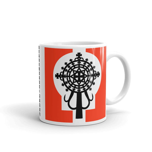 Black Cross Red Keyhole Coffee Mug Ethiopian Coptic Orthodox Abyssinian Kiosk Christian