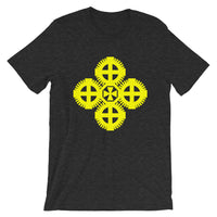 Plain Yellow #9 Cross Unisex T-Shirt Ethiopian Coptic Orthodox Abyssinian Kiosk Christian Bella Canvas Original Art Abyssinian Kiosk Fashion Cotton Apparel Clothing