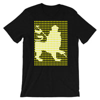 Yellow Squares White Lion Unisex T-Shirt Ethiopian Lion of Judah Ethiopia African Abyssinian Kiosk Fashion Cotton Apparel Clothing Bella Canvas Original Art