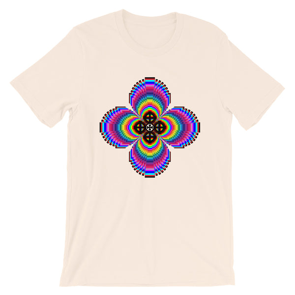 Psychedelic #9 Cross Black Unisex T-Shirt Trip Trippy Colorful Ethiopian Coptic Orthodox Abyssinian Kiosk Christian Bella Canvas Original Art Fashion Cotton Apparel Clothing
