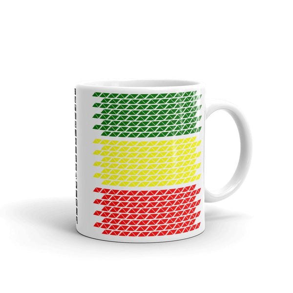 Slanted Green Yellow Red Coffee Mug Ethiopian Flag Abyssinian Kiosk Abyssinia Ethiopia