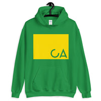 CA Cut Out Yellow Unisex Hoodie Gildan Original Art Abyssinian Kiosk Fashion Cotton Apparel Clothing California State America US
