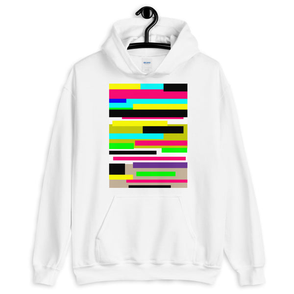 Bars Unisex Hoodie Bold Colors Abstract Art Abyssinian Kiosk Fashion Cotton Apparel Clothing Gildan Original Art