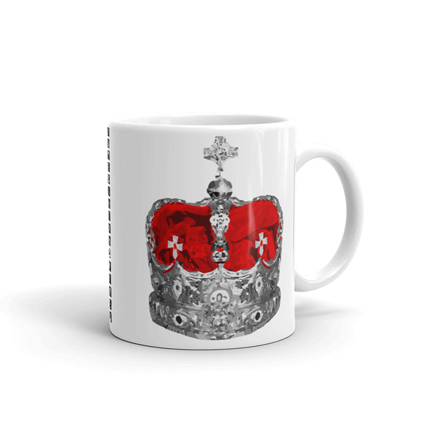 Supreme Grey & Red Crown Kaffa Mug
