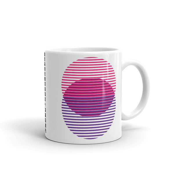 Pink to Purple Lined Circles Kaffa Mug