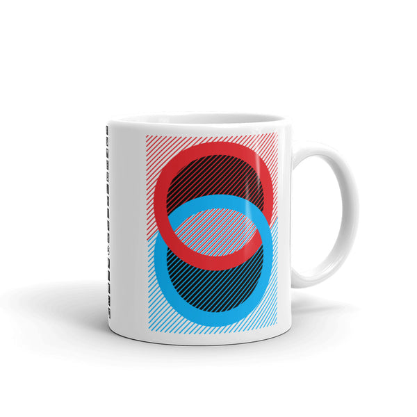 Red Blue Rings Black Inner Kaffa Mug