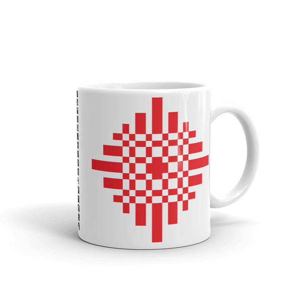 Red Pixel Cross Kaffa Mug