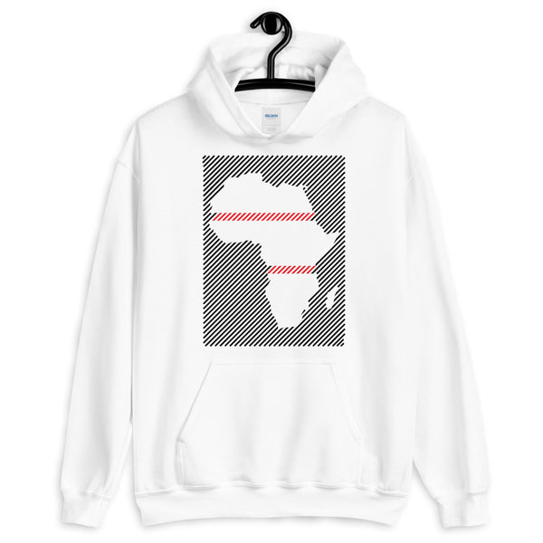 Africa Diagonal Lines Black Red Unisex Hoodie Abyssinian Kiosk Fashion Cotton Apparel Clothing Gildan Original Art