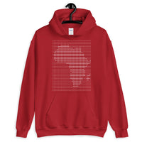Africa White Dashes Unisex Hoodie Abyssinian Kiosk Scantron Map Gildan Original Art Fashion Cotton Apparel Clothing