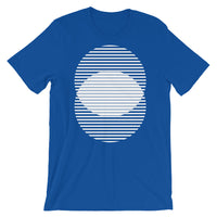 White Lined Circles Unisex T-Shirt Abyssinian Kiosk Joining Circles Fashion Cotton Apparel Clothing Bella Canvas Original Art