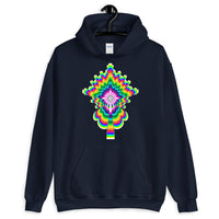 Psychedelic #2 Cross White Unisex Hoodie Trip Trippy Colorful Ethiopian Coptic Orthodox Abyssinian Kiosk Christian Gildan Original Art Fashion Cotton Apparel Clothing