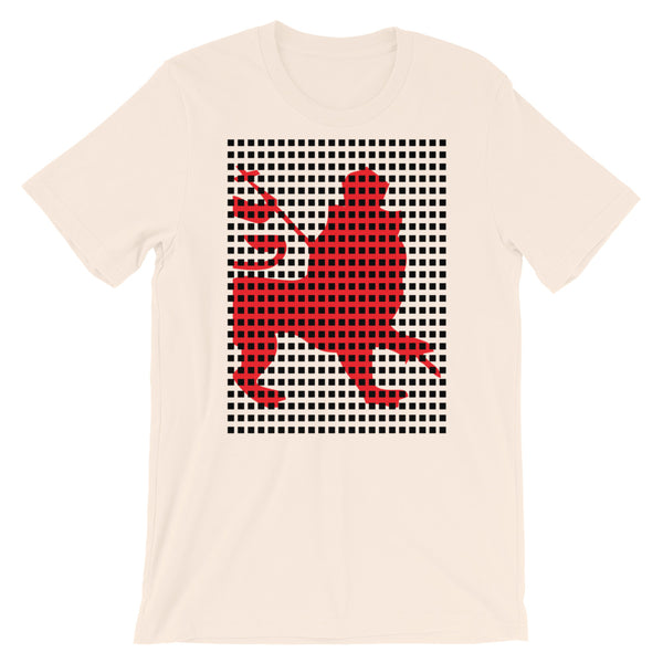 Black Squares Red Lion Unisex T-Shirt Ethiopian Lion of Judah Ethiopia African Abyssinian Kiosk Fashion Cotton Apparel Clothing Bella Canvas Original Art