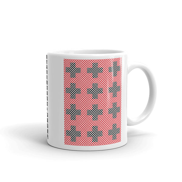 Criss Cross Red Black Kaffa Mug