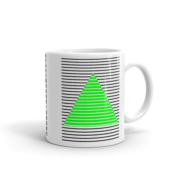 Black Green Lined Pyramid Kaffa Mug