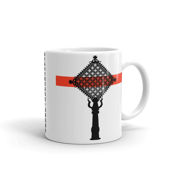 Black Cross Red Bar Coffee Mug Ethiopian Coptic Orthodox Abyssinian Kiosk Christian