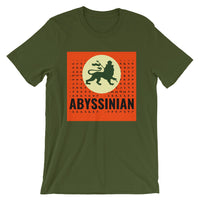 Abyssinian Logo Black Letters Unisex T-Shirt Ethiopian Lion of Judah Abyssinian Kiosk Abyssinia Ethiopia