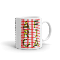 Africa Yellow Letters Red Grid Kaffa Mug