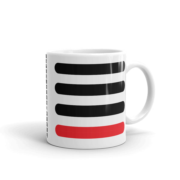 3 Black Bars 1 Red Kaffa Mug