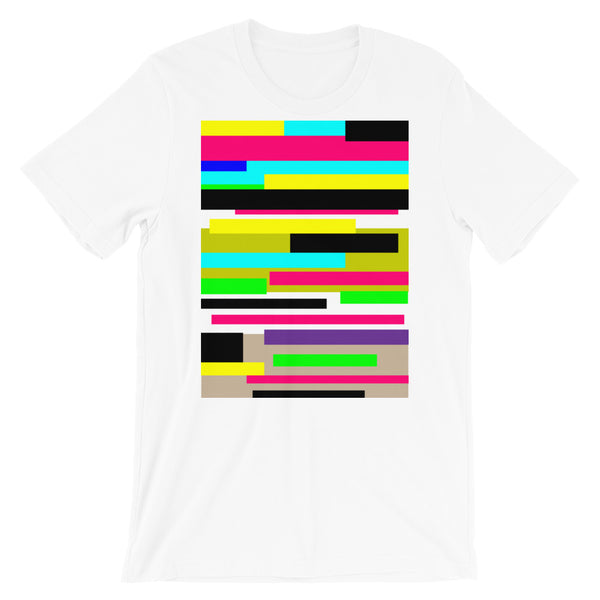 Bars Unisex T-Shirt Bold Colors Abstract Art Abyssinian Kiosk Fashion Cotton Apparel Clothing Bella Canvas Original Art