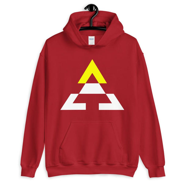 Pyramid White Bottom Yellow Top Unisex Hoodie Gildan Original Art Abyssinian Kiosk Fashion Cotton Apparel Clothing Triangle