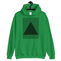 Black Lined Pyramid Unisex Hoodie Abyssinian Kiosk Fashion Cotton Apparel Clothing Gildan Original Art