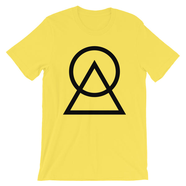 Black Circle Triangle Unisex T-Shirt Abyssinian Kiosk Harmonious Meeting Fashion Cotton Apparel Clothing Bella Canvas Original Art
