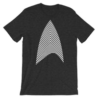 Sisko Kid White Lines Unisex T-Shirt Abyssinian Kiosk Cirroc Lofton Jake Sisko Star Trek Deep Space Nine Combadge Communicator Bella Canvas