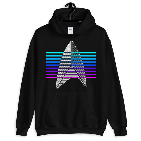 Sisko Kid II White & Cool Bars Unisex Hoodie