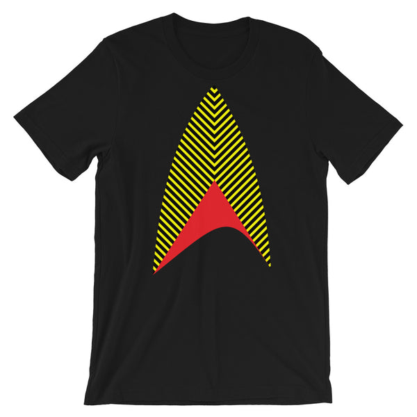 Sisko Kid Yellow Black Red Unisex T-Shirt Abyssinian Kiosk Cirroc Lofton Jake Sisko Star Trek Deep Space Nine Combadge Communicator Bella Canvas