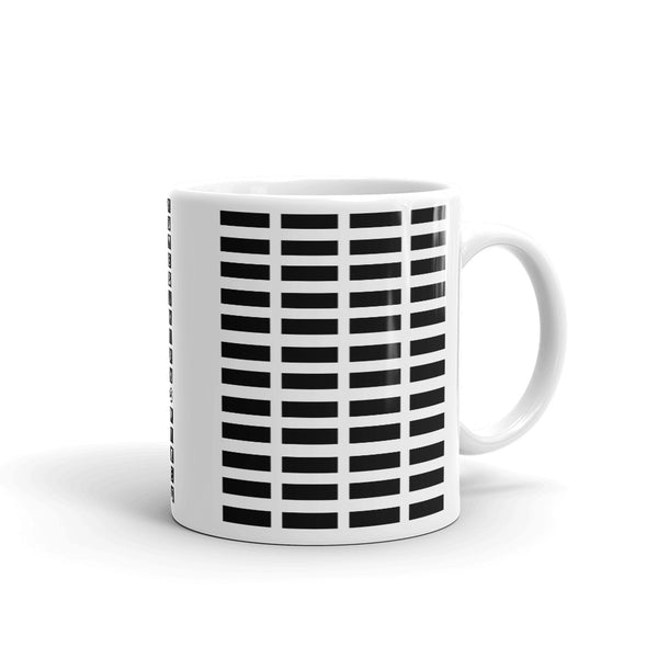 Black Grid Bars Kaffa Mug