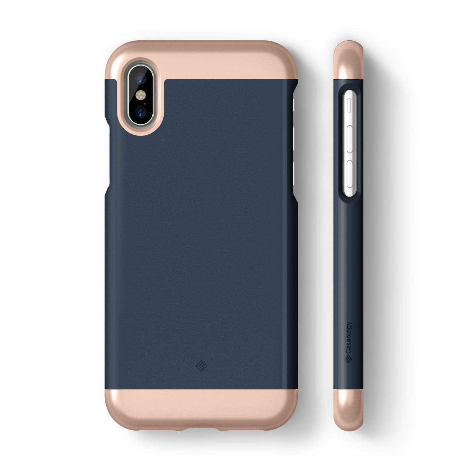 info for 7b3b0 f4c9f Caseology [Savoy Series] iPhone XS/iPhone X Phone Case - [Stylish Design] -  Navy Blue