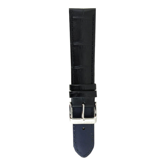 Midnight Black Croco AG-L0001 22mm Strap