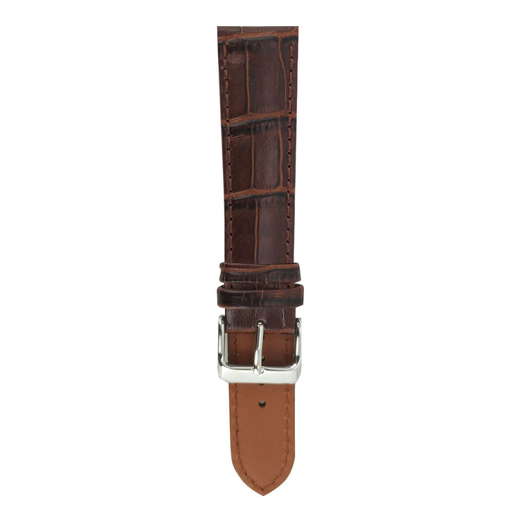 Tan Brown Croco AG-L0002 22mm Strap