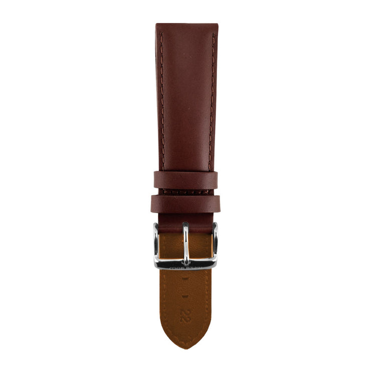 Pecan Brown Plain AG-L0020 22mm Strap