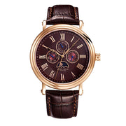 Aries Gold | Classic Rose Gold Men Watch G 101 RG-CF | Brown Dial Brown Strap