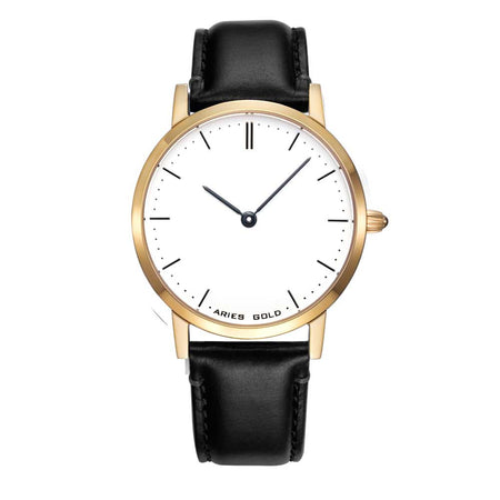 Aries Gold Women | Ladies Watch L 1008 G-W | Gold Watch with Black Strap