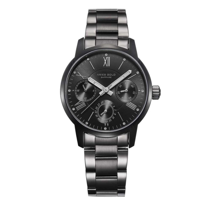 Aries Gold Women | Full Black Ladies Watch L 103 BK-BK | Stainless Steel Bracelet