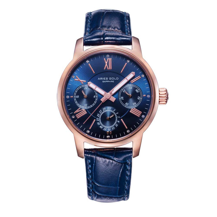 Aries Gold Women | Ladies Rose Gold Watch L 103 RG-BU | Blue Strap