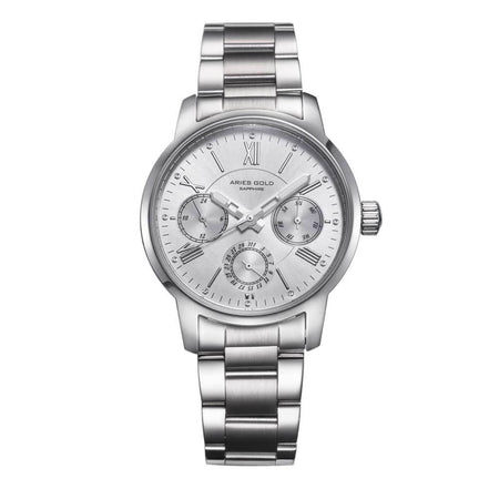 Aries Gold Women | Ladies Silver Watch L 103 S-S | Stainless Steel Bracelet