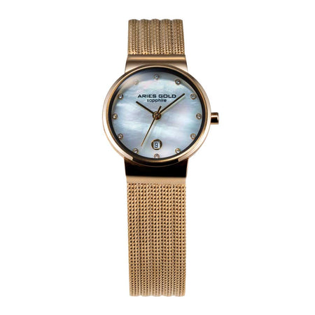 Aries Gold Women | Gold Ladies Watch L 5002 G-MOP | Steel Wire Mesh
