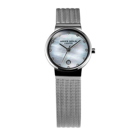 Aries Gold Women | Silver Ladies Watch L 5002 S-MOP | Steel Wire Mesh
