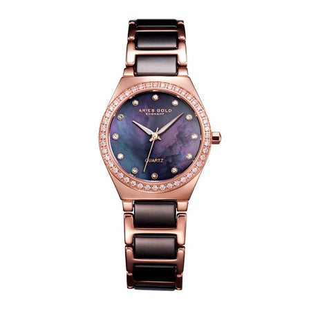 Aries Gold Women | Black Ceramic Rose Gold Watch L 5014Z RG-MOP