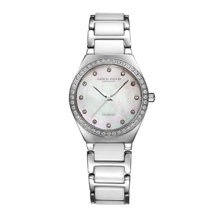 Aries Gold Women | White Ceramic Silver Watch L 5014Z S-MOP