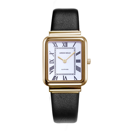 Aries Gold Women | Ladies Gold Watch L 5032Z G-W-L |  Black Strap