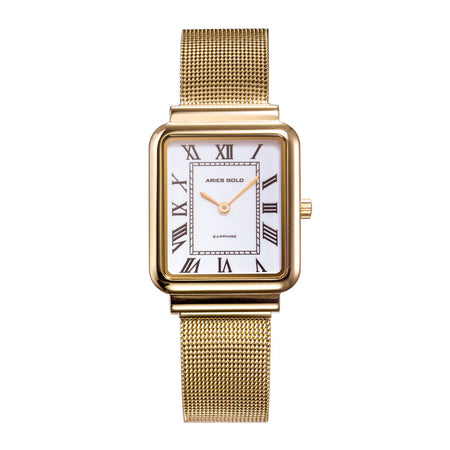 Aries Gold Women | Ladies Gold Watch L 5032Z G-W | Steel Wire Mesh