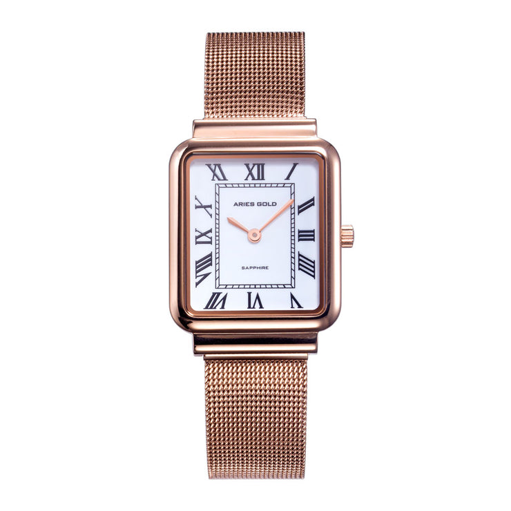 Aries Gold Women | Ladies Rose Gold Watch L 5032Z RG-W |  Steel Wire Mesh