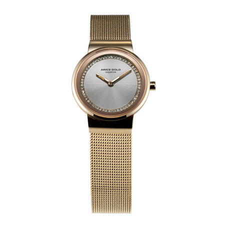 Aries Gold Women | Gold Ladies Watch L 5003 G-S | Steel Wire Mesh