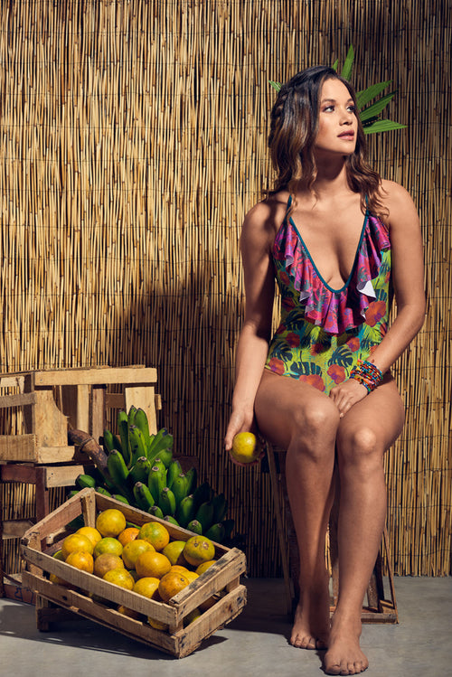 Ana Baru Orchids One Piece Palmazul Beachwear