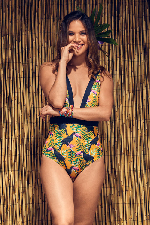Ana Capurgana Toucans One Piece Palmazul Beachwear